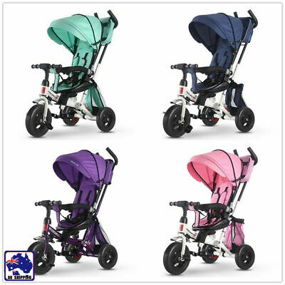 4-in-1 Kids Baby Toddler Stroller Tricycle Learning Bike Ride on Pram BCT0261