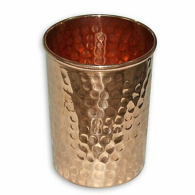 Hammered 100% Copper Drinking Glass Cup Tumbler 300 ml - Ayurveda Health yoga