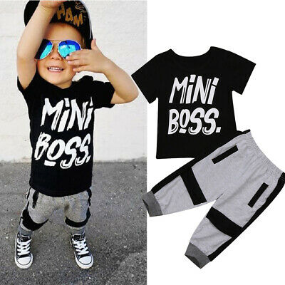 AU STOCK Casual Toddler Kids Boys Cool T-shirt Tops Pants  Outfits Set Clothes