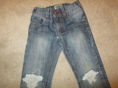 Boys Next Distressed Blue Denim Jeans Age 5