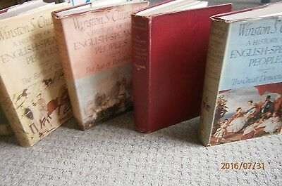 1st Edition Set of Winston Churchill's The History of English-Speaking People's