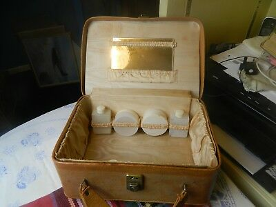 vintage vanity case with contents