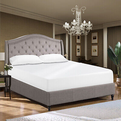 Luxury Extra Deep 100% Egyptian Cotton White Fitted Bed Sheet Single Double King