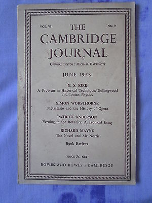 Cambridge Journal 1953 Vol.VI No.9 Michael Oakeshott Metastasio Ionian Physics
