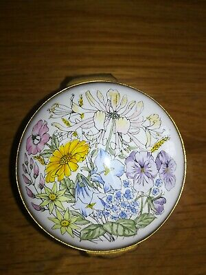 Crummles Enamel Decorative Pin Box With Spring Floral Design - Easter Gift!