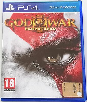 God Of War Iii 3 Remastered Ps4 Gioco Playstation 4 Italiano Come Nuovo Completo
