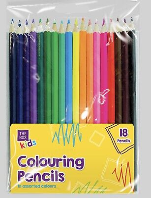 18 Colour Saturation Pack Adult Child Play Art Colouring Pencils Intense Set