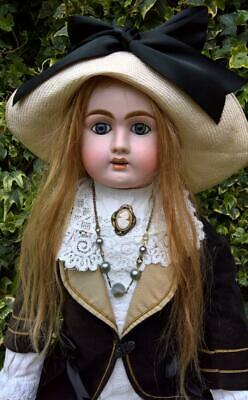 "Rare Large Antique 29"" French Bebe Jullien Size 11 Bisque Head Doll circa.1890"