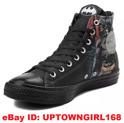 6858febe69b8 Converse Chuck Taylor ALL STAR HI Shoes Batman DC Comics Arkham Black New  in Box