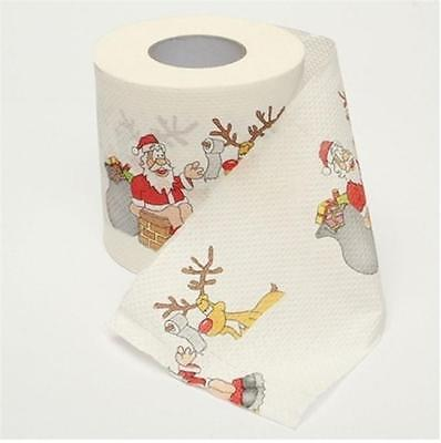 Xmas Home Living Decor Bath Room Toilet Paper Tissue Roll Christmas Paper MH
