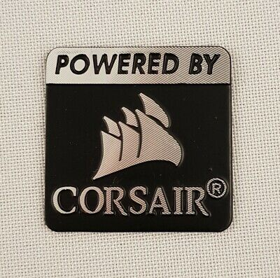 Powered BY CORSAIR Sticker 25mm x 25mm PC Case Logo Label Decal Badge style 2