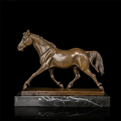 Home Fengshui Art Deco Sculpture Bronze Marble Horses Animal statue