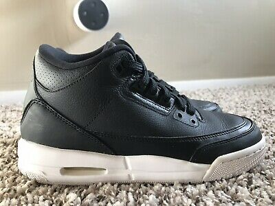 4e9f0399655c61 NIKE Air Jordan III 3 Black Sz 4y Kids Boys Cyber Monday Retro Basketball  Shoe