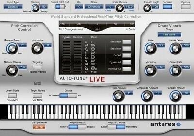 Antares Auto-Tune Live Pitch Correction  Version Autotune eDelivery NEW