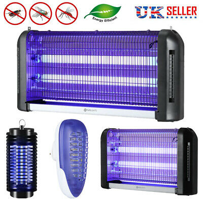 UV LED Light Electronic Fly Killer Indoor Mosquito Insect Bug Zapper Trap Lamp