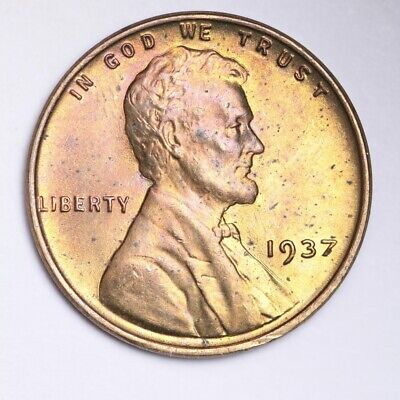 1937 Lincoln Wheat Small Cent CHOICE BU FREE SHIPPING E251 T