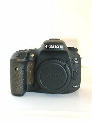 Canon EOS 7D Mark II 20.2MP Digital SLR Camera - Black, Used. (Body Only) Extras