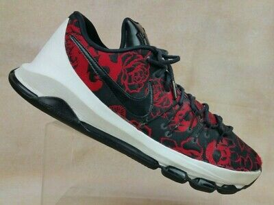 ae89bef10ae6b NIKE KD 8 VIII EXT Floral Mother's Day Kevin Durant Black Red 806393-004  Mens 13