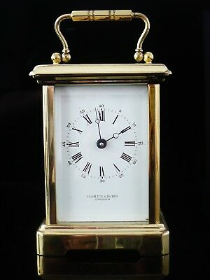 Bornand Freres Brass Carriage Clock for Hamilton & Inches, Fully Operational