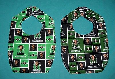 NEW BABY CHILD BIB MARSHALL UNIVERSITY The THUNDERING HERD shipdisc College