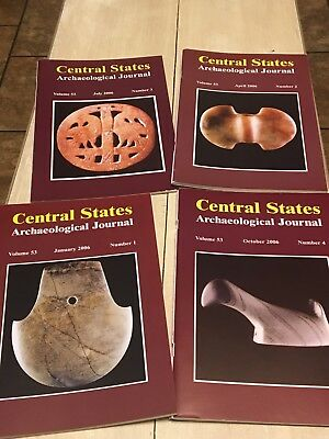 CENTRAL STATES ARCHAEOLOGICAL JOURNALS 2006 4 Magazines, Full Year