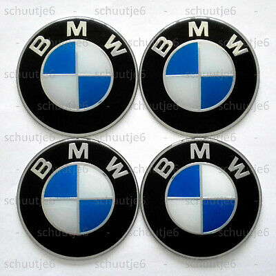 4x 65mm BMW Car Wheel Center Hub Cap Caps Emblem Badge Decal Sticker Stickers