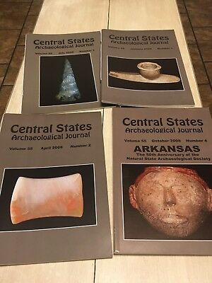 CENTRAL STATES ARCHAEOLOGICAL JOURNALS 2008 4 Magazines, Full Year