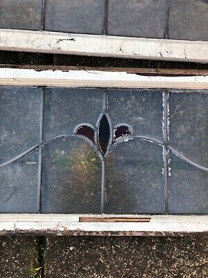 Vintage Original Stained Glass Panel, Window