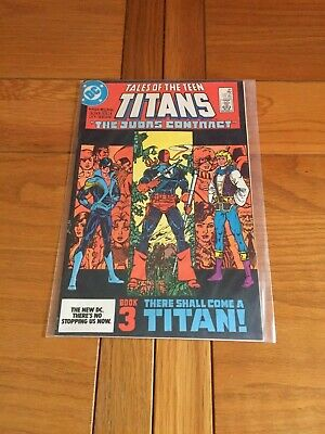 TALES OF THE TEEN TITANS 44. NM- COND. JULY 1984. JUDAS CONTRACT 3.1st NIGHTWING