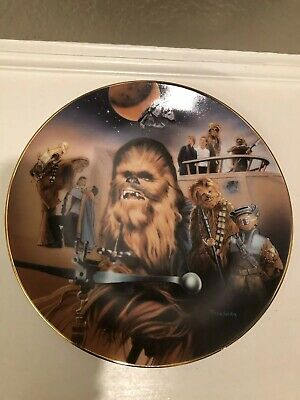 '99 Hamilton Collection Todd Treadway Star Wars ROTJ Chewbacca LE Plate Numbered