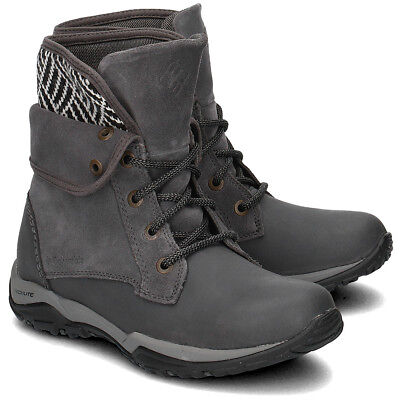 a9efc1ee8e1 COLUMBIA CITYSIDE FOLD Waterproof Boots Womens size 6 Leather/Suede ...