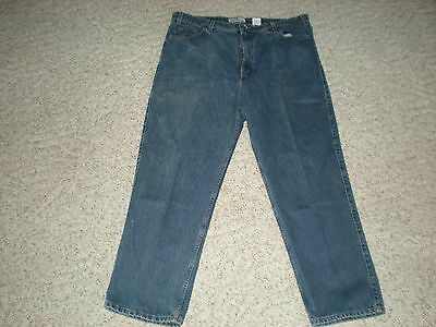 b420c5377bf VTG LEVIS MENS 540 Size 42x30 Relaxed Leather Patch Gold Tab USA 100 ...