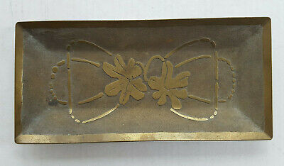 Carence Crafters Arts & Crafts Brass Tray Chicago