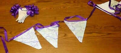 Wedding Bunting made from map sections