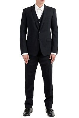 """Dolce & Gabbana """"Gold"""" Men's 100% Wool Two Button Three Piece Suit US 38 IT 48"""