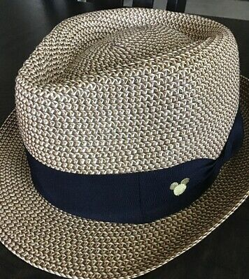 adf8cc197229c Disney Parks Straw Fedora Hat Mickey Mouse Adult 57cm Authentic Original NWT
