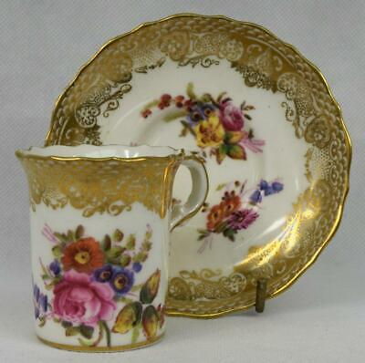 Hammersley Antique Coffee Cup & Saucer #265 Dresden Sprays~ English Porcelain