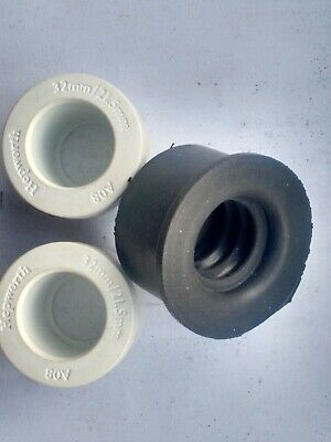 1 x 40mm Rubber + 2 x 34mm OD Hepworth Solvent Reducers Waste to 21.5mm Overflow