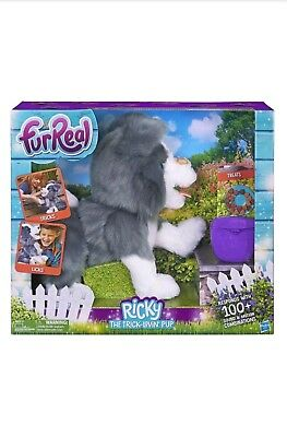 FurReal Ricky the Trick-Lovin' Interactive Plush Pet Toy 100+ Sound & Motion NEW