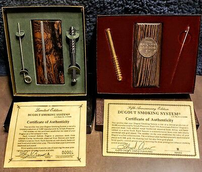 """The Original""""Dugout Smoking System""""Complete Collection"""" History- Display Pieces"""