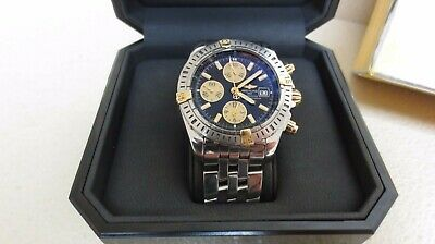 Breitling Chronomat Ss 18k Gold Watch B13356 Nice No Res Free Shipping