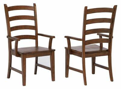 Ladder Back Dining Arm Chair - Set of 2 [ID 3793235]