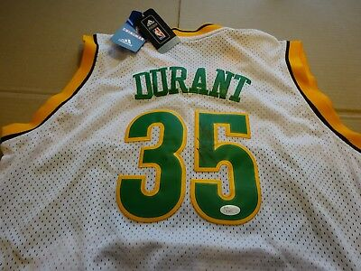 buy online 05254 ff697 SEATTLE SUPERSONICS KEVIN DURANT Signed Adidas Rookie Jersey ...