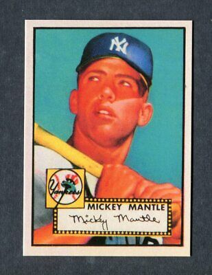 Mickey Mantle Rookie 1952 Topps Baseball #311 Yankee Reprint Card Mint Condition