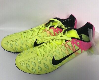 69dbc09f95008 New Unisex Nike Racing Zoom Maxcat 4 Running Sprint Volt Pink 882012-999  Size 13