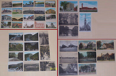 PENNSYLVANIA Vintage postcard Lot of 44 various towns