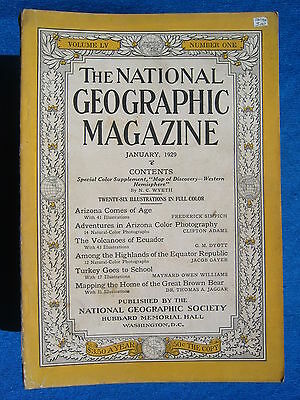 National Geographic Magazine February 1929 Vintage Ads Car Truck Advertising