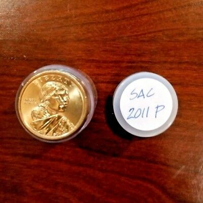 2011-P - Roll of 25 Sacagawea Native American $1 Dollar Coins in Tube