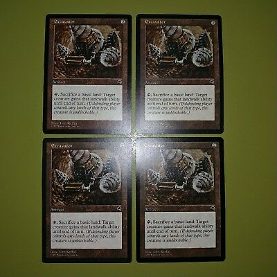 4x ExcavatorTempestMTG Magic The Gathering Cards