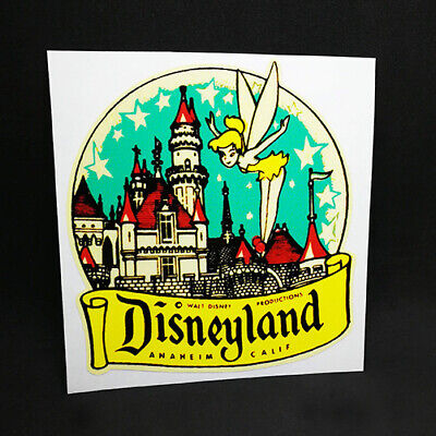 Disneyland Tinkerbell Decal / Vintage Style Vinyl Travel Sticker, Luggage Label